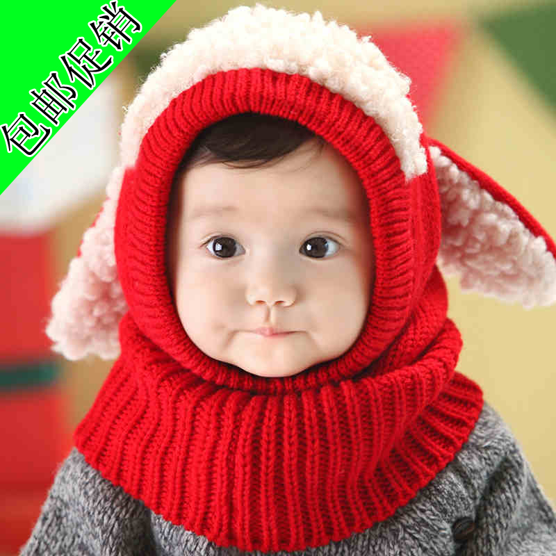 One piece Winter Ear Flap Warm Hat Pirate Hat Toddler Boys Girls Bebe Beanie Dog Cap Kids Winter Children Headwear