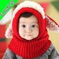 Una pieza de invierno Ear Flap Warm sombrero de pirata sombrero del niño de Boys niñas Bebe de la gorrita tejida perro gorro de invierno los niños niños Headwear