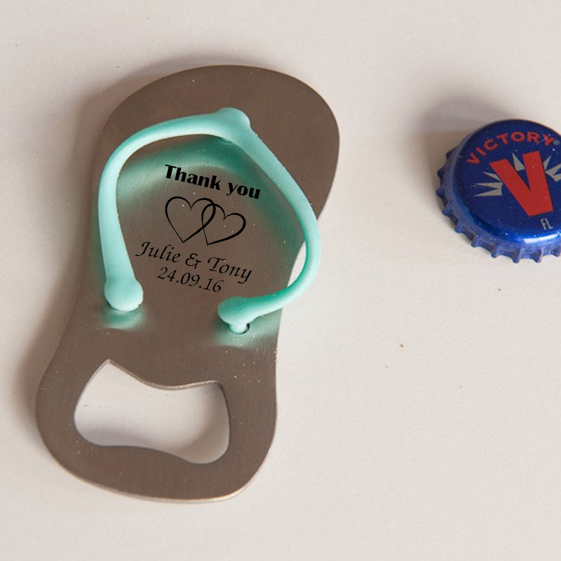 0a9b36d91ab8cc 20x Personalized Flip Flop Bottle Opener Beach Themed Wedding Bridal Shower  Party Favor Personalized Wedding Thong Bottle Opener-in Party Favors from  Home ...