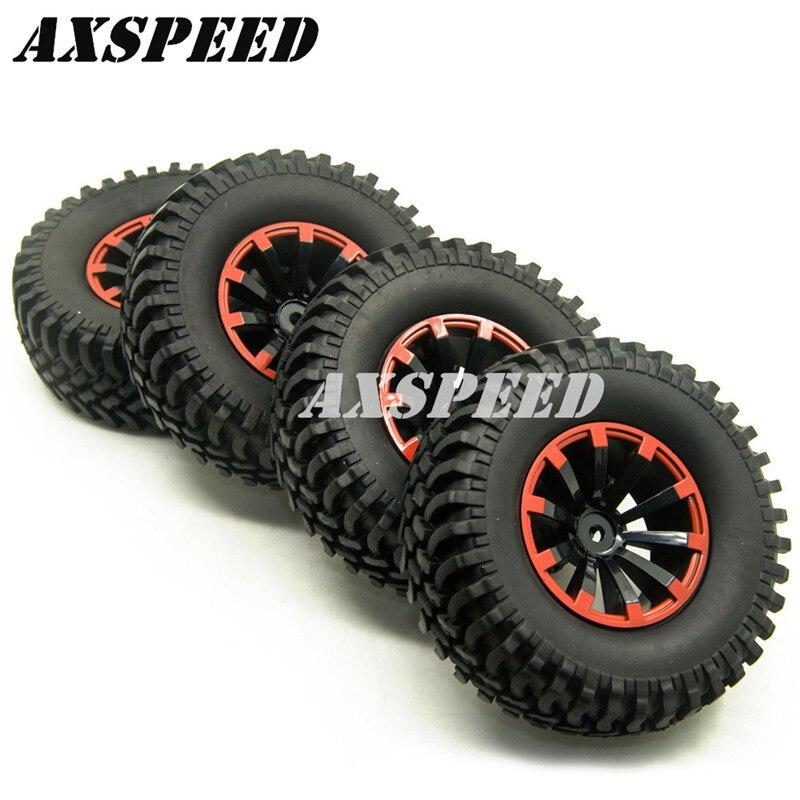 4 unids 1,9 pulgadas llantas de ruedas 100mm neumáticos para 1:10 RC SCX10 D90 espectros