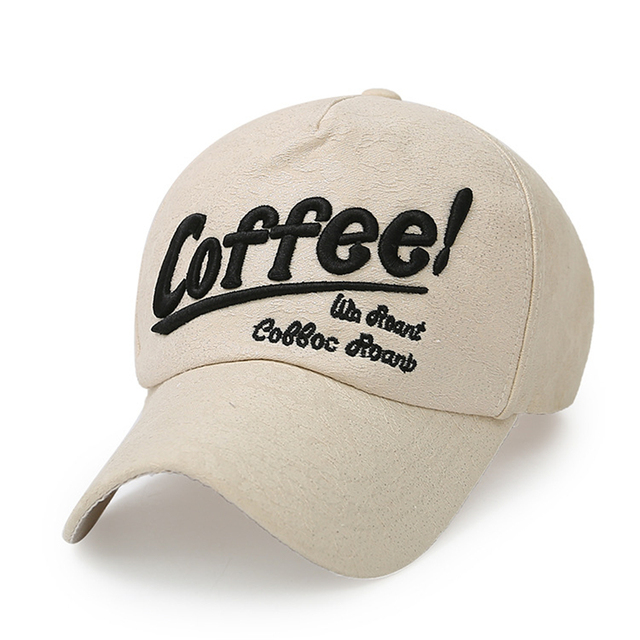 Verano gorra de béisbol del sombrero del snapback hip hop bordado carta de  café hueso casquette 80a611e96d6