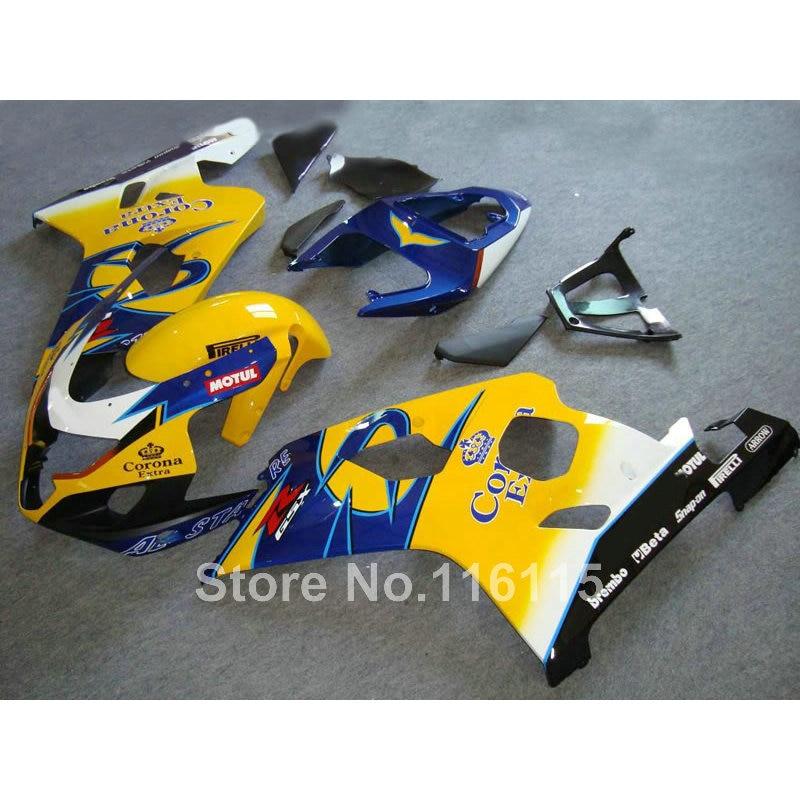 Fairing kit for SUZUKI GSXR 600/750 K4 2004 2005 yellow blue Corona GSXR600 GSXR750 04 05 motorcycle fairings set LF67