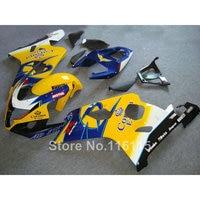 Kit de carenado para SUZUKI GSXR 600/750 K4 2004 2005 amarillo azul Corona GSXR600 GSXR750 04 05 set de carenados de motos LF67