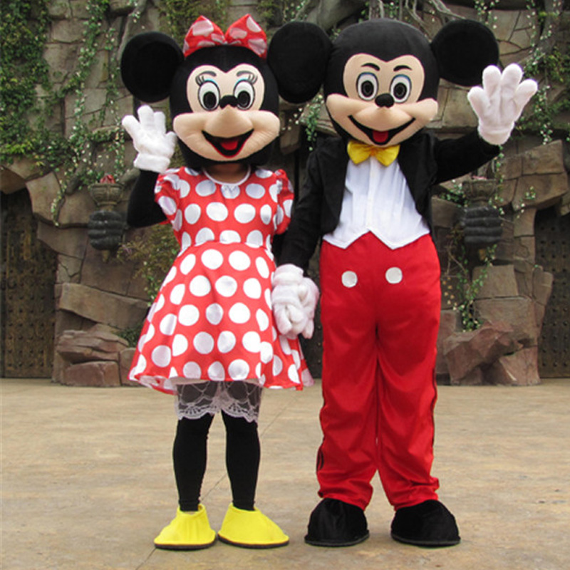 Mickey Mascot Costume Adult  Cosplay And Minnie  Mascot Costume Adult Halloween Costume Cosplay