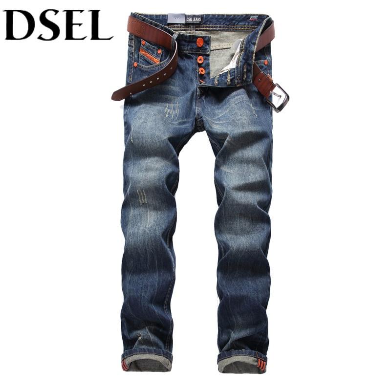Italian Design Men Jeans Dark Blue Denims