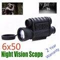WG6x50 Zoom de vídeo táctica alcance de la visión nocturna de 6x50 Digital infrarroja Monocular noche caza Riflescope NV alcance envío gratis