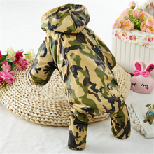 HELLOMOON  2017 new pet raincoat dog New camouflage Printing waterproof material