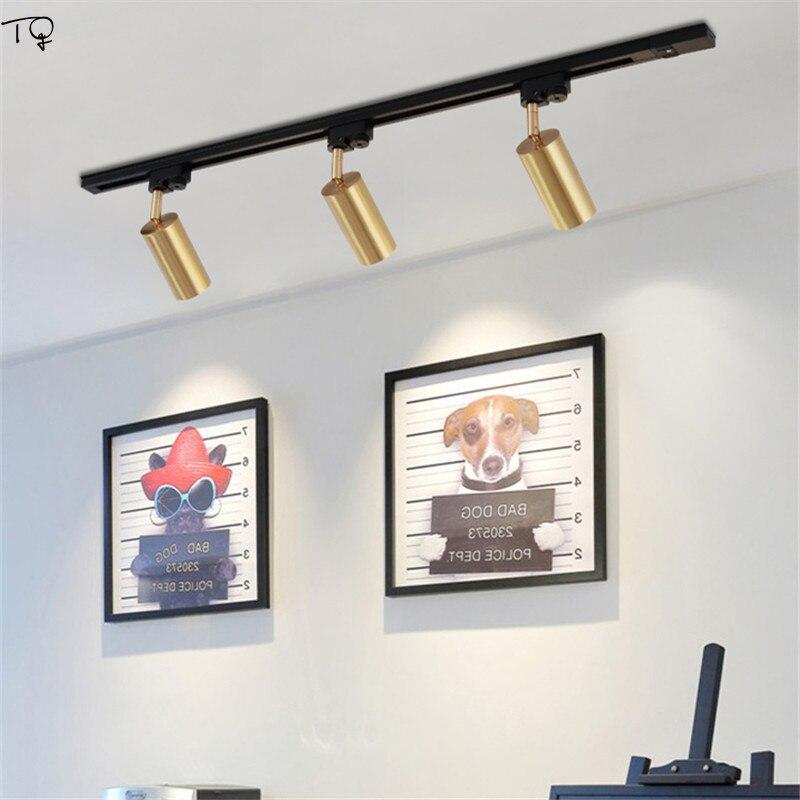 Tout-cuivre nordique or salle de bains miroir lumière pour maquillage lampes murales Spot lumières COB LED rotatif unique tête toilette chambre - 4