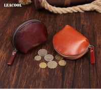 Leacool Fashion Vintage Genuine Leather Women Lady Wallet Clutch Short Small Coin Purse Brand New Soft