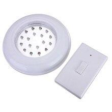 Белый 18 светодио дный led беспроводной Потолочный Настенный светильник лестницы шкаф батарея работает лампа с дистанционное управление переключатель
