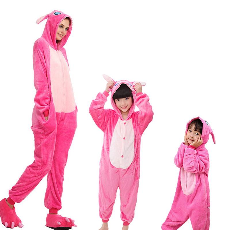 pink stitch onesie for adult