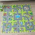 ¡ Nuevo! 9 unids Bebé juego de puzzle de espuma EVA alfombra del piso, Ciudad con la Educación Vial y enclavamiento azulejos y suelo de ruta de tráfico pad (no de borde)