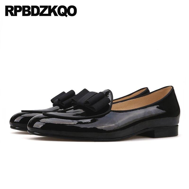 3be524d278 Alta Tamanho Patente Marca Preto Genuine Qualidade Sapatos De Runway Baile  Luxo Europeu 11 Itália Real Grande Artesanal 47 Mocassins Couro Homens  gngqrwf76