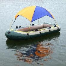 Ponton akcesoria kajakowe wędkarstwo parasol przeciwsłoneczny deszcz baldachim zestaw kajakowy żaglówka markiza górna pokrywa 2 4 osoby schronisko łodzi