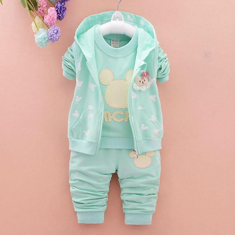 Осенние детские пальто спортивные костюмы Детская Комплект одежды модная брендовая одежда для маленьких детей для девочек жилет с капюшон...