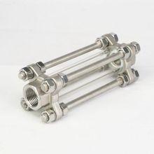 BSPT verre en acier inoxydable 1/2 pouces, SS304, 85 PSI