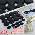 Best selling! 20pcs/set Hot stone massage body massage stone set Salon SPA with heater bag CE and ROHS