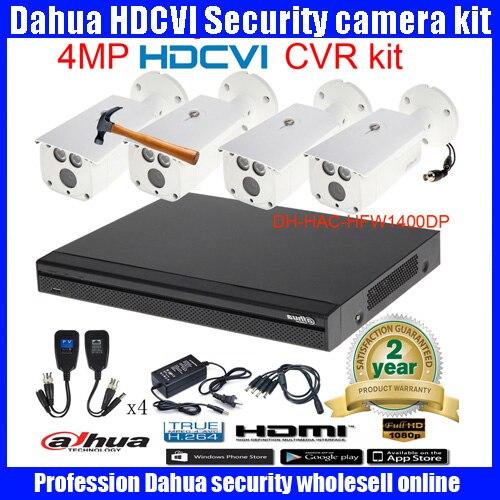 Original English DAHUA 4MP VANDALPROOF CAMERA DHI HAC HFW1400DP cvi dome camera with 4MP Digital CVR