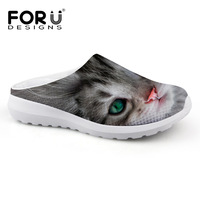 FORUDESIGNS Cute 3D Animal Printed Women Summer Sandals Comfort Breathable Female Slip On Beach Water Shoes