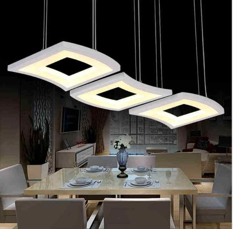 โมเดิร์นที่เรียบง่ายนำร้านอาหารแฟชั่นอะคริลิคโคมไฟบุคลิกภาพความคิดสร้างสรรค์สตูดิโอแสงโคมระย้านำแสง