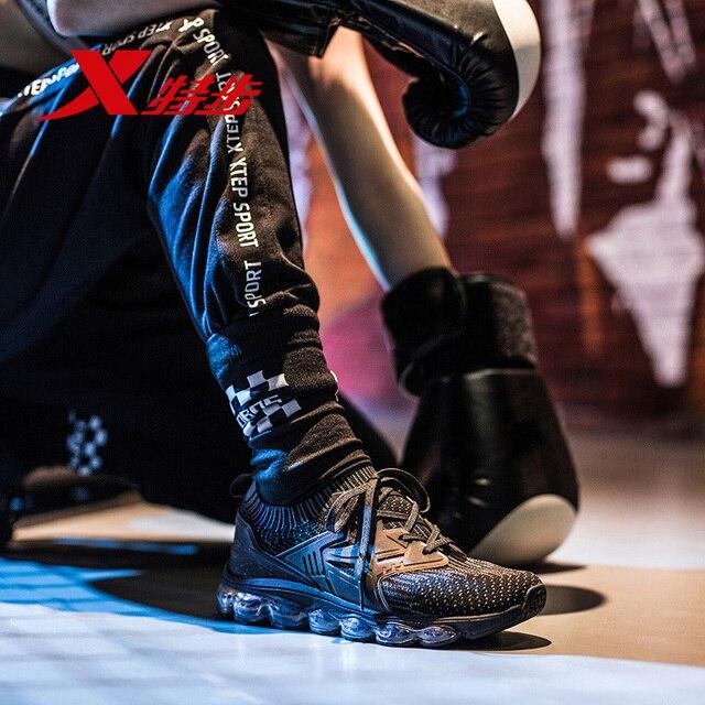 982118119528 XTEP стиль; Новинка; в стиле ретро; в светло-Вес спортивные flyknit весь Air Sole сетки сброса Для женщин обувь для бега