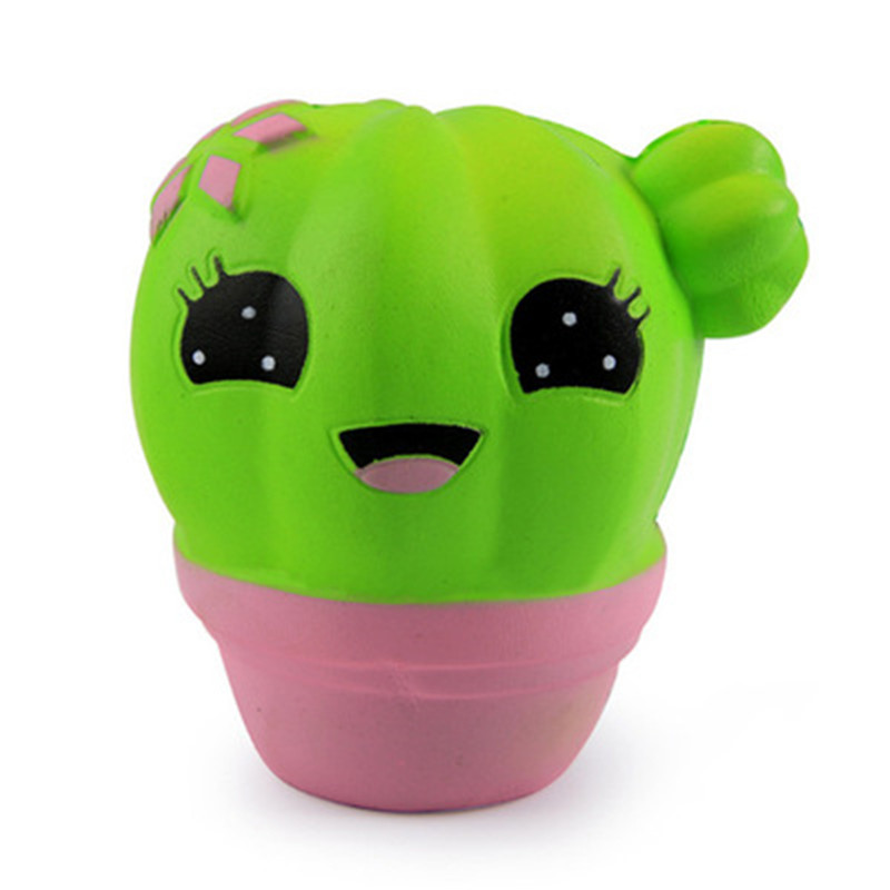 Smooshy mushy squishy scented cute fairytale decompression venting toy PU slow rebounding prickly pear cactus squeezies toys