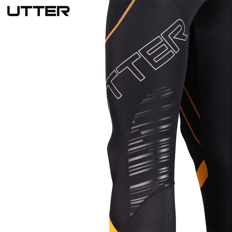 UTTER J6 мужские желтые компрессионные штаны с принтом, спортивные колготки для бега, леггинсы для бодибилдинга, бега, фитнеса, тренажерного зала, итальянская ткань CVC - 5