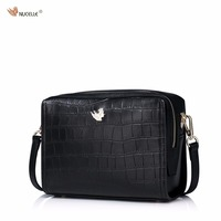 New NUCELLE Brand Design Fashion Casual Simple Alligator Pattern Cow Leather Women Lady Mini Handbag Shoulder