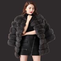 2015 Autumn Winter Coat Warm New Silver Fox Fur Coat Outerwear Women S Fashion Imitation Fur