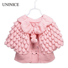 Baby Girl Clothes 2017 New Girl Cardigan Children Clothes Cute Batwing Sleeve Pineapple Knitting Wool Sweater Coat Girls Sweater