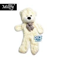 Factory wholesale unstuffed teddy bear 200CM 79 life size big plush animal skins Wedding Gift Shell empty giant plush toys coat