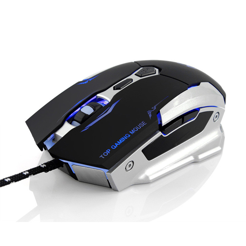 2400DPI 7D Buttons LED Optical Wired Gaming Mouse Mice For PC Laptop A7 ...