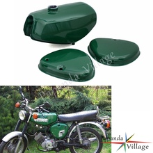 Papanda Motorcycle Steel Green Gas Tank Fuel Tank + 2 Side Cover Protection for Simson S50 S51 S70 pazoma motorbike steel green orange gas tank motorcycle fuel tank for simson s50 s51 s70