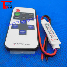 MINI DC 12V LED Controller Dimmer 6A Wireless RF REMOTE CONTROL SINGLE Color Strip แสง 3528 5050 LED strip