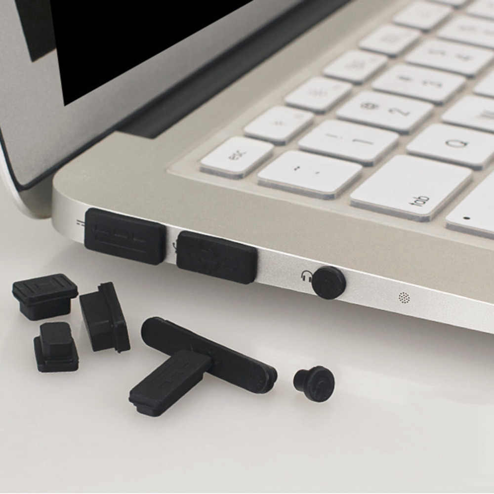 12 stks/set Professionele Siliconen Anti-Dust Plug Cover Stopper Laptop Stofdicht USB Dust Plug Cover Set Geschikt Voor Macbook