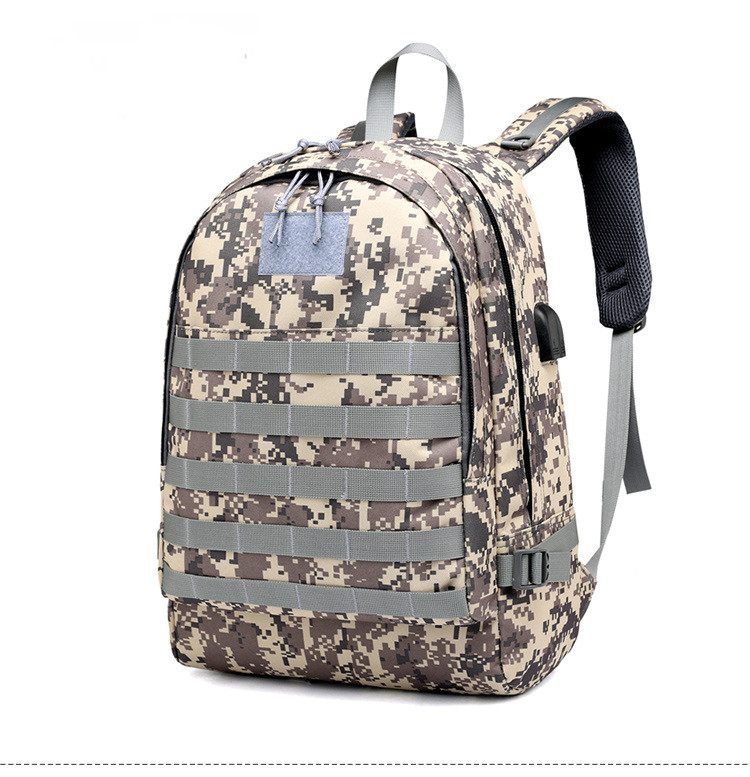 PUBG Multifunctional Backpack Battlefield Infantry Camouflage Travel Canvas Backpack PUBG Battle Royale Cosplay Bag Backpac