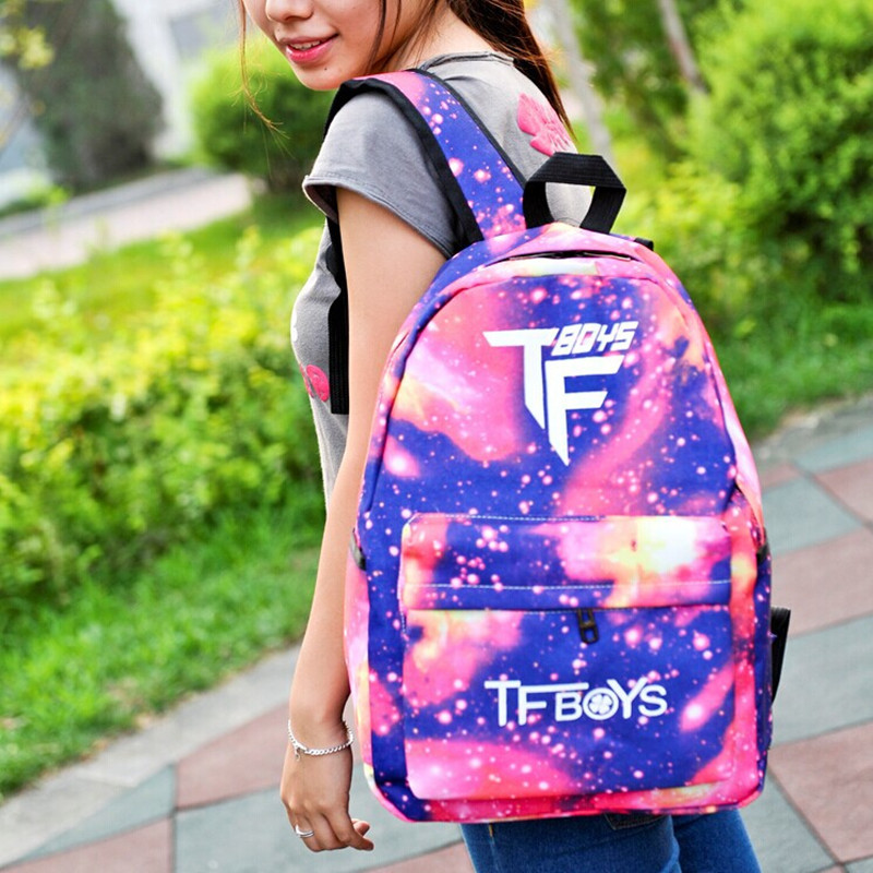 4c5ec923ddaa US $16.8 |Tfboys bag new stores sell like hot cakes star backpack hot style  TF family backpack female han edition of leisure-in Backpacks from Luggage  ...