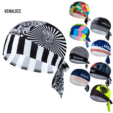 KAMALOCE UV Protection Team Men Summer Full sublimazione cappellino da Ciclismo MTB De Ciclismo sciarpa teschio bianco cappello da bicicletta Bandana da bici(China)