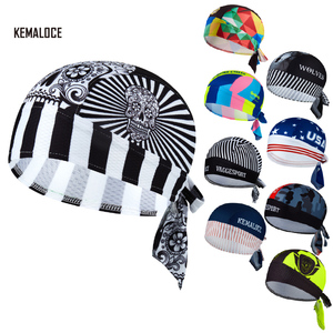 KAMALOCE UV Protection Team Men Summer Full Sublimation Cycling Cap MTB De Ciclismo Scarf White Skull Bicycle Hat Bike Bandana