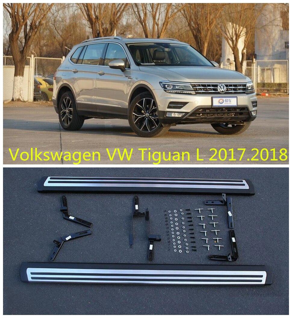 Для Volkswagen VW Tiguan L 2017.2018 автомобилей Бег Панели Авто шаг в сторону Бар Педали для автомобиля высокое качество оригинальный Дизайн Nerf бары
