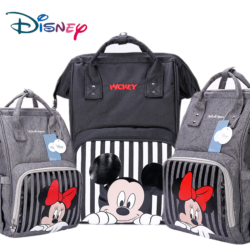 Disney Mummy Diaper Bag Maternity Nappy Nursing Bag For Baby Care Travel Backpack Designer Disney Mickey Minnie Bags Handbag New