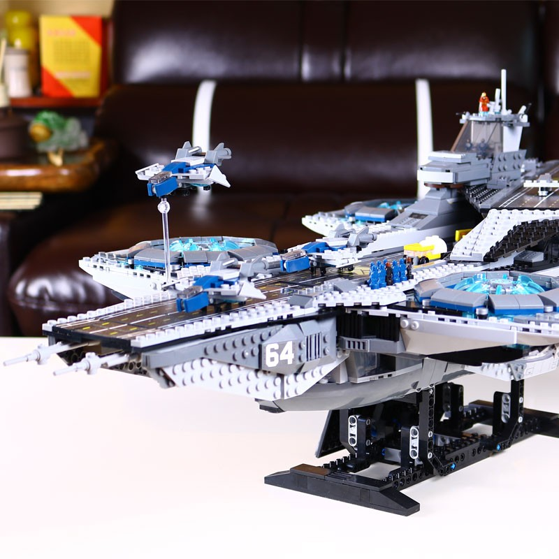 3057pcs-LEPIN-07043-Super-Heroes-The-SHIELD-Helicarrier-Model-Building-Kits-Minifigure-Blocks-Bricks-Toys-brinquedos (4)