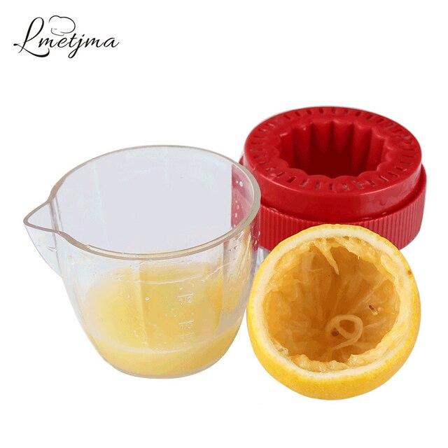 LMETJMA presse-agrumes au citron avec couvercle | En plastique, manuel, presse-agrumes Orange, tasse à presse, presse-agrumes avec bec verseur, outils Pour fruits KC0130