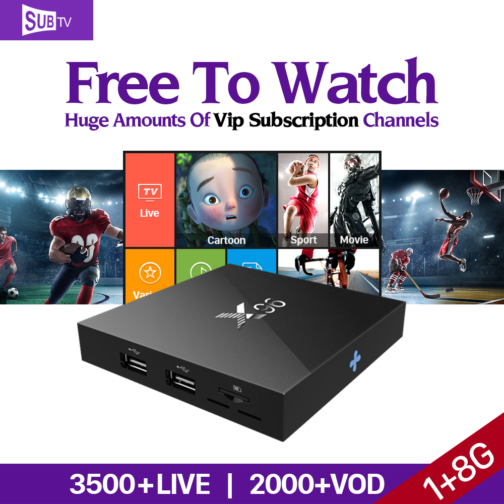 Smart X96 Android 6.0 TV Set Top Box S905X IPTV STB 3500+HD Arabic IPTV French Italy Europe IPTV Subscription 1 Year Account цена 2016