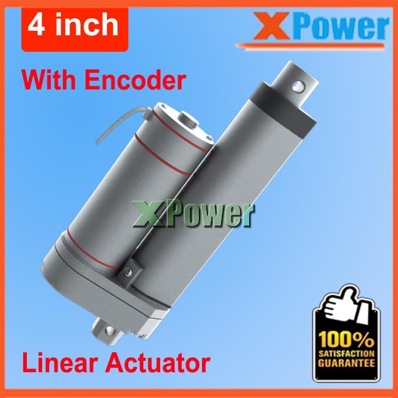 50mm12V Dc Motor 24v Linear Actuator 2 inch With Encoder Electric Gear Motor 36v Tubular Motor 48V Engine 900N 90KG Bringsmart 12v 125rpm encoder 41 line dc micro gear motor silver