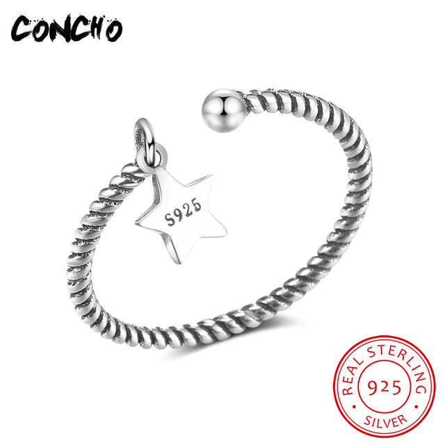 2018 Direct Selling Sale Bands Party Classic Anel Feminino Concho Jewelry 925 St