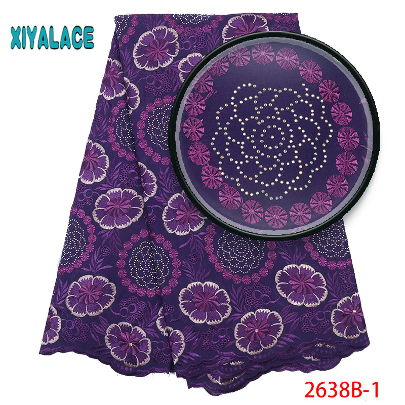 African Lace Fabric French Lace 2019 Nigerian  High Quality Voile Lace Fabric  New Wedding Dress Swiss Voile Lace YA2638B-1