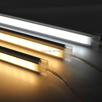 5050 led aluminum strip rigid, 512mm long with 36pcs 5050 smd led, 8.6W, 12V, clear cover and milky diffuse cover are available