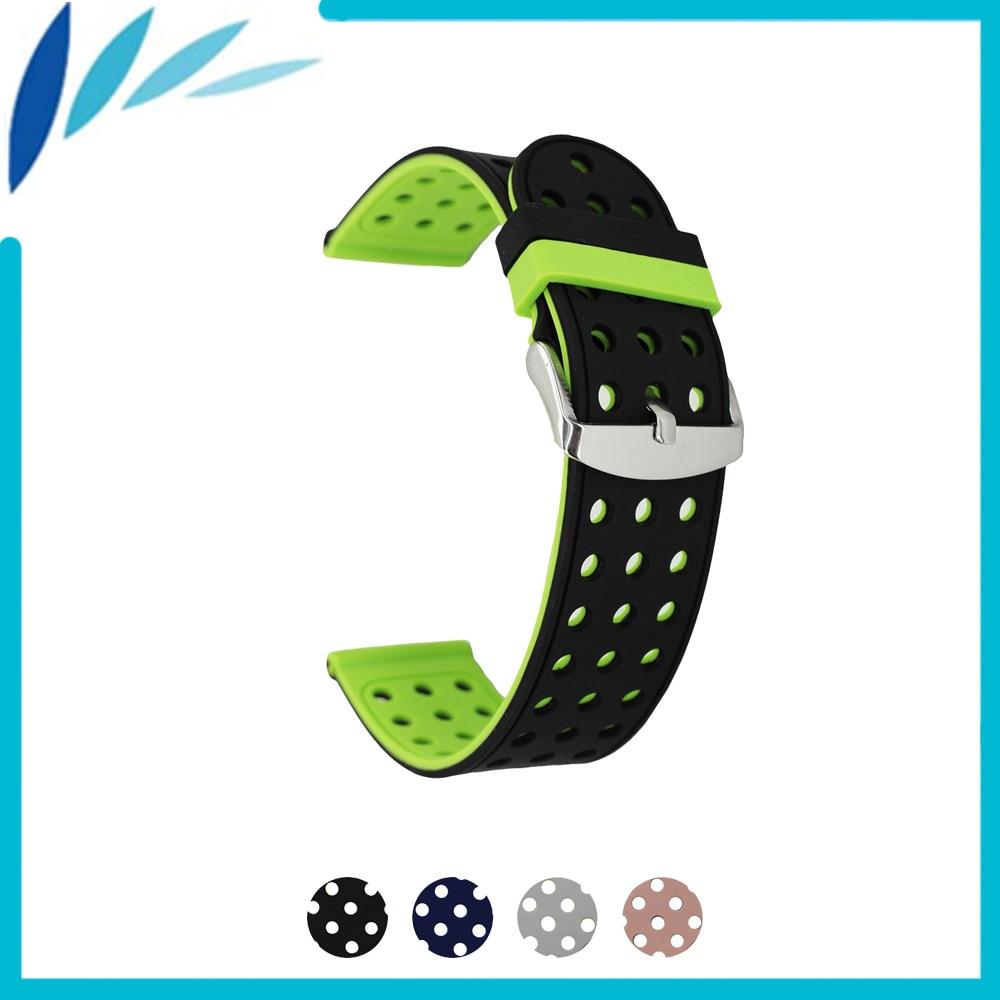 Silicone Rubber Watch Band 18mm 20mm 22mm 24mm Universal Watchband Strap Wrist Loop Belt Bracelet Black Green Red Grey Pink rubber belt rubber belt apl red rubber timing belt