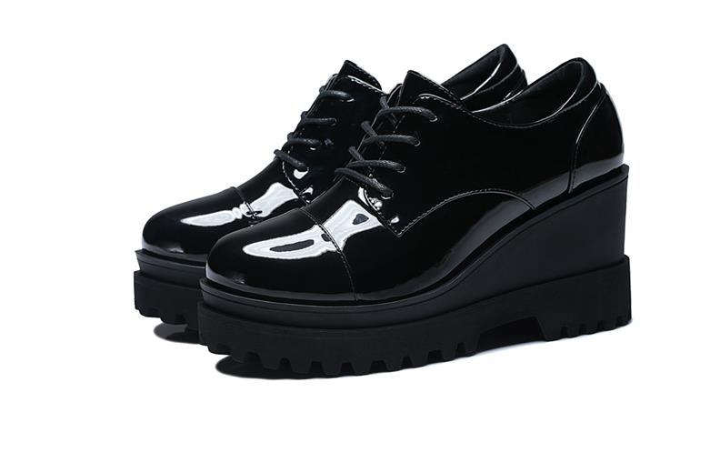 Cuir British Et Noir Gaogenpo Sho Plus Automne New Femmes Chaussures En Collège vin Saison Dadong Style De Velours Printemps Rouge Étudiant Petit THIdqT